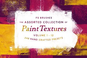 252 Assorted Real Paint PS Brushes