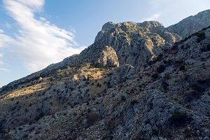 mountain rock in Montenegro Kotor