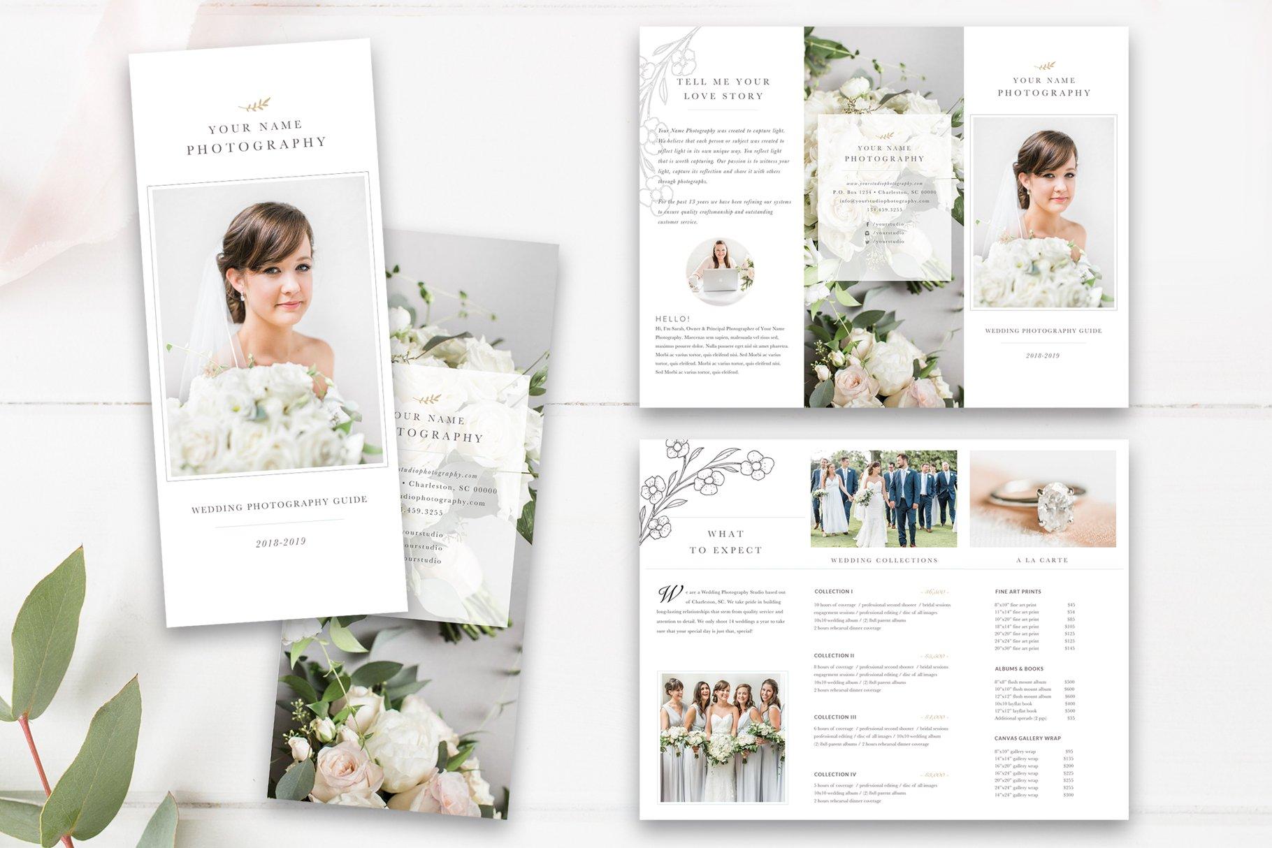 Wedding Photography Trifold PSD ~ Brochure Templates ~ Creative Market