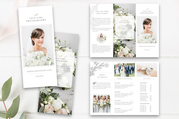 Wedding Photography Trifold Psd Brochure Templates Creative Market