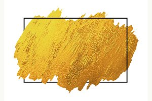 Gold brush stoke texture background
