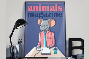 Poster with office mouse