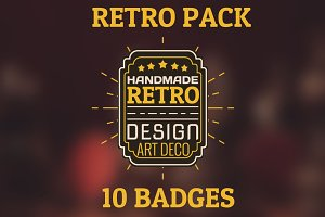 Retro pack. 10 HQ badges