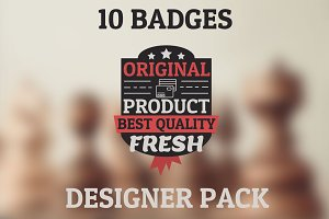 New original pack. 10 HQ badges