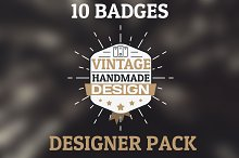 Old vintage pack. 10 HQ badges