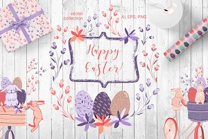 Happy Easter - vector set
