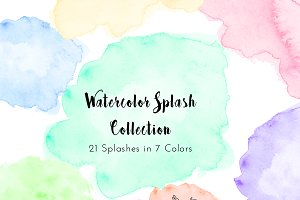 Watercolor Splash Clipart