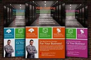 Web Hosting Business Flyer Template