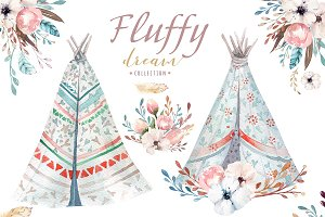 Fluffy dream. Boho collection