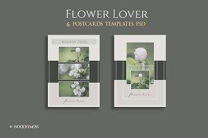 Flower Lover Postcards Flyers