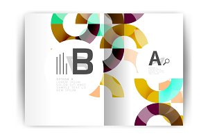 Geometric a4 annual report cover print template