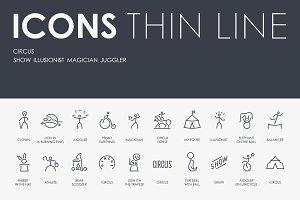 Circus thinline icons