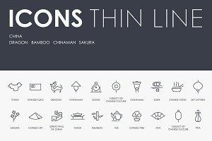 China thinline icons
