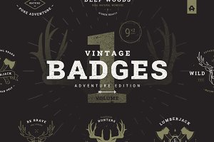 Vintage Badges vol 1