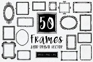 50 Frames. Hand drawn vector