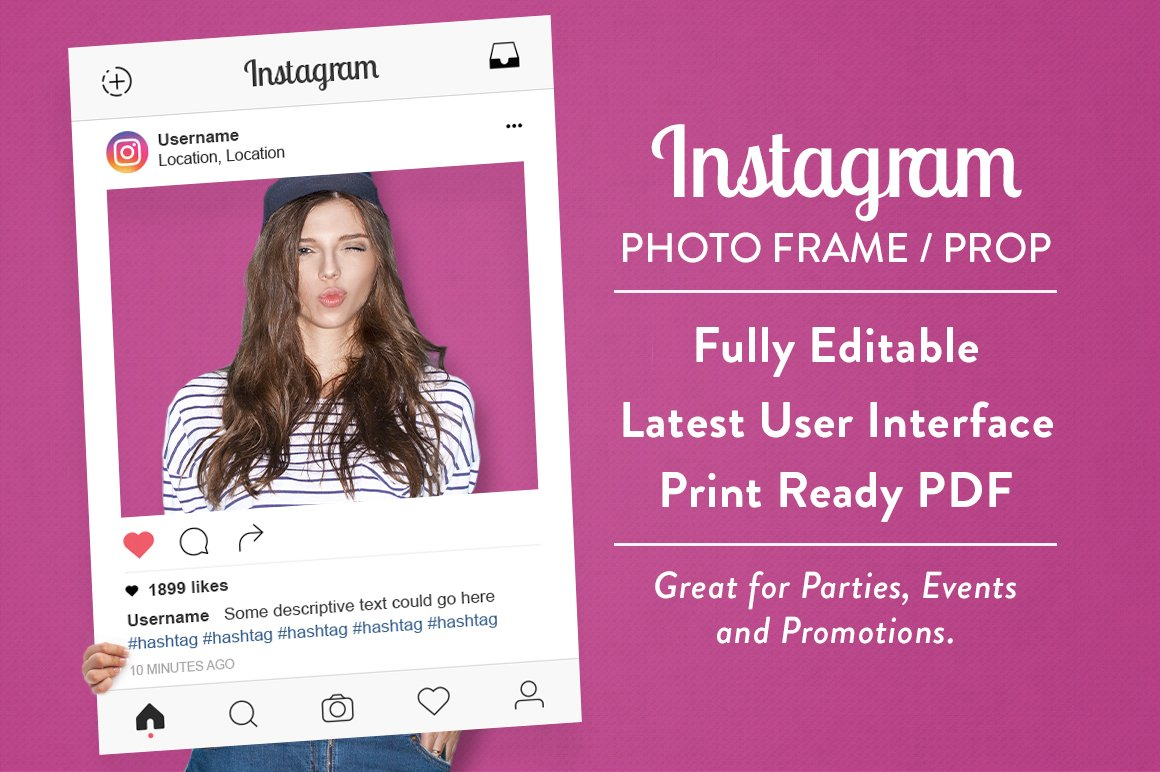Instagram Photo Frame Prop Product Mockups Creative Market