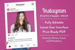 Instagram Photo Frame / Prop
