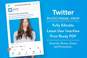Twitter Photo Frame / Prop