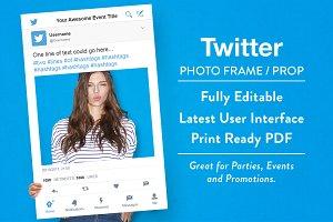 Twitter Photo Frame / Prop