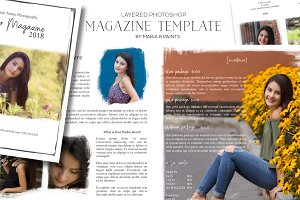 Senior Marketing Magazine Template