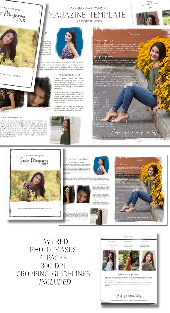 Senior Marketing Magazine Template