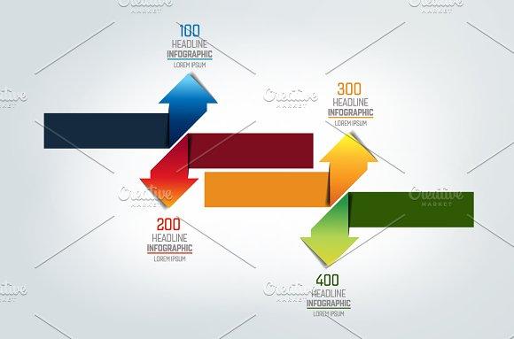 Arrows Infographic Chart Scheme
