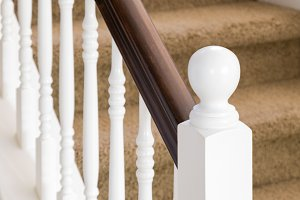 Abstract of Beautiful Stair Railing