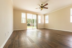 Room with Finished Wood Flooring