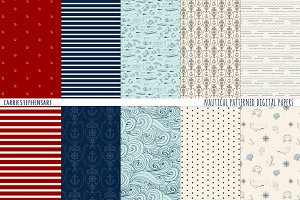 Nautical Pattern Digital Paper