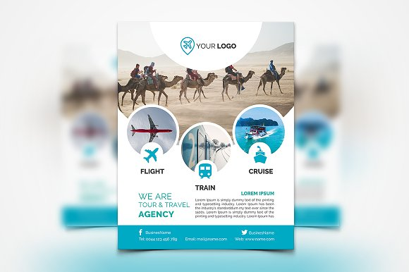 Travel Agency Flyer #136