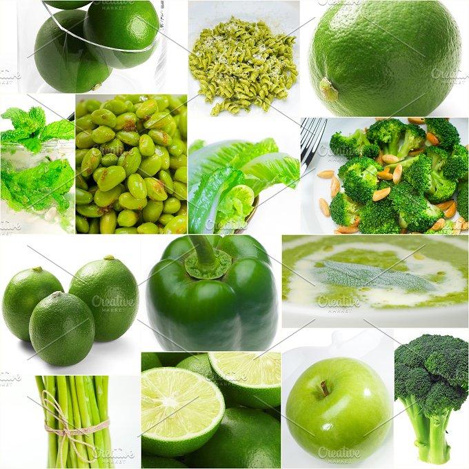 green food collage 5.jpg - Food & Drink