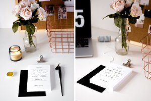 7 Wedding Invitation Mock Ups