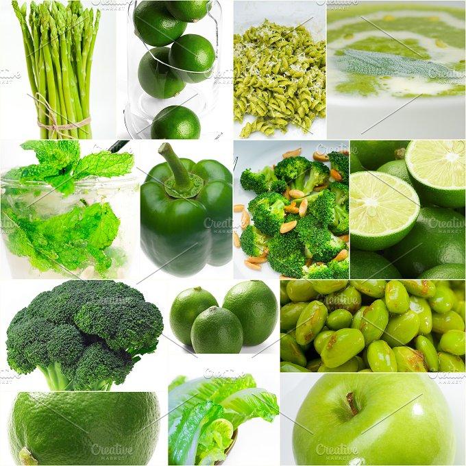 green food collage 10.jpg - Food & Drink