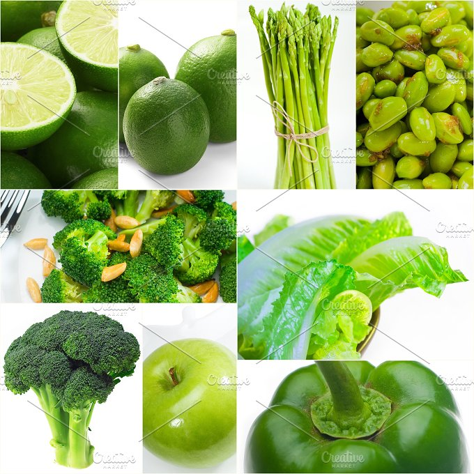 green food collage 12.jpg - Food & Drink
