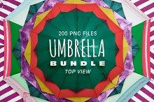 Umbrella Bundle - Cut Out & Top View