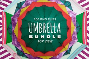 Umbrella Bundle - Cut Out & Top View