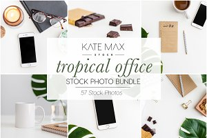 Tropical Office Stock Photo Bundle