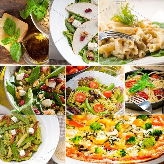 healthy Italian vegetarian food collage 2.jpg - Food & Drink