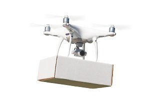 Drone Carrying Blank Package