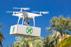 Drone Carrying Food Package