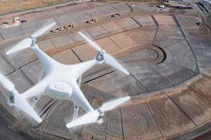 Drone Over Construction Site