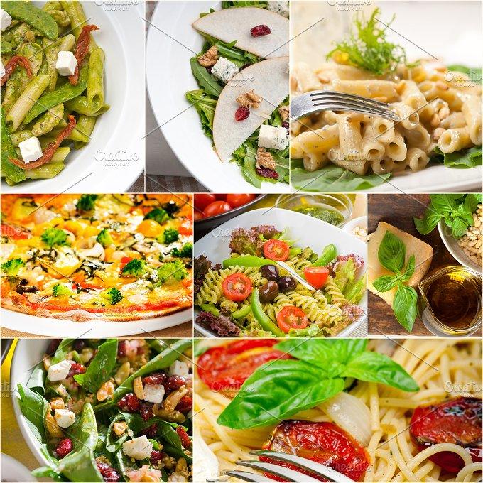 healthy Italian vegetarian food collage 7.jpg - Food & Drink