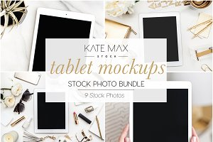 Tablet Mockups Stock Photo Bundle