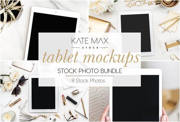 Tablet Mockups Stock Photo Bundle
