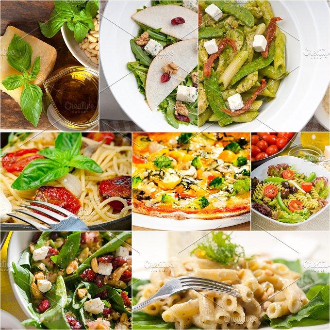 healthy Italian vegetarian food collage 8.jpg - Food & Drink