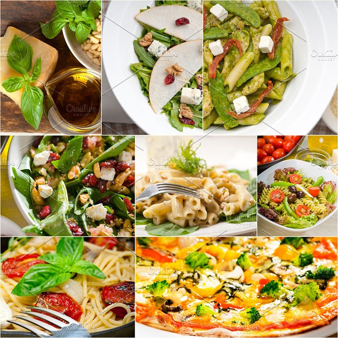 healthy Italian vegetarian food collage 9.jpg - Food & Drink