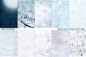 Winter Frost Ice Digital Papers