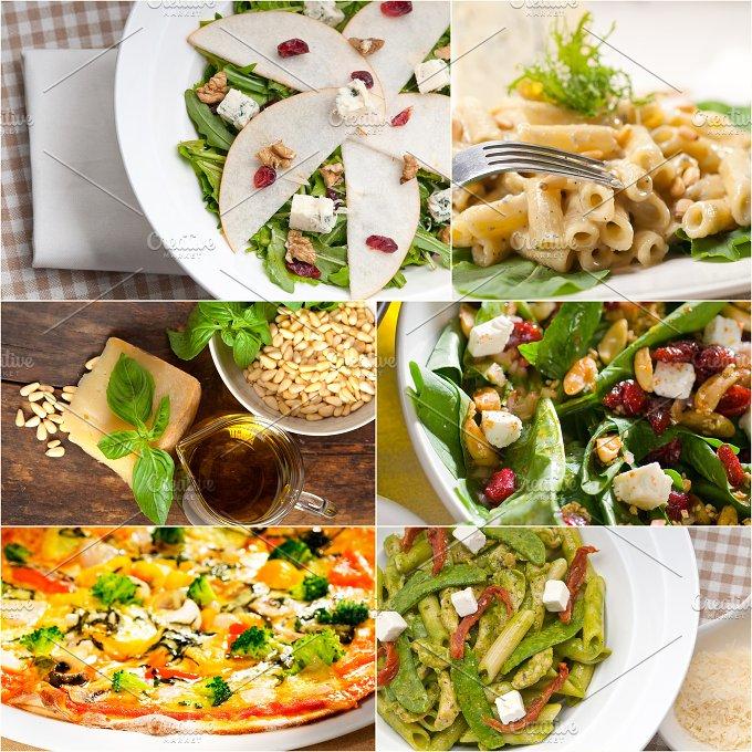 healthy Italian vegetarian food collage 17.jpg - Food & Drink