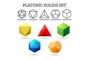 Platonic 3d shapes