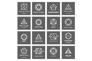 Geometric shapes logo